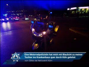 Ein Dank an die Kölner Polizei von Silke via Nettwerk Köln