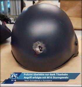 Nach Schießerei in Konstanz: Angeschossener Polizist überlebte nur dank Titanhelm