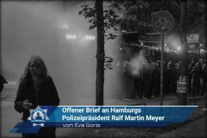 Offener Brief an Hamburgs Polizeipräsident Ralf Martin Meyer (von Eva Goris)