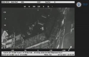 Wärmebildkamera des Polizeihubschraubers