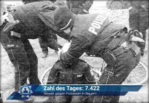 Zahl des Tages: 7.422 - Gewalt gegen Polizisten in Bayern steigt