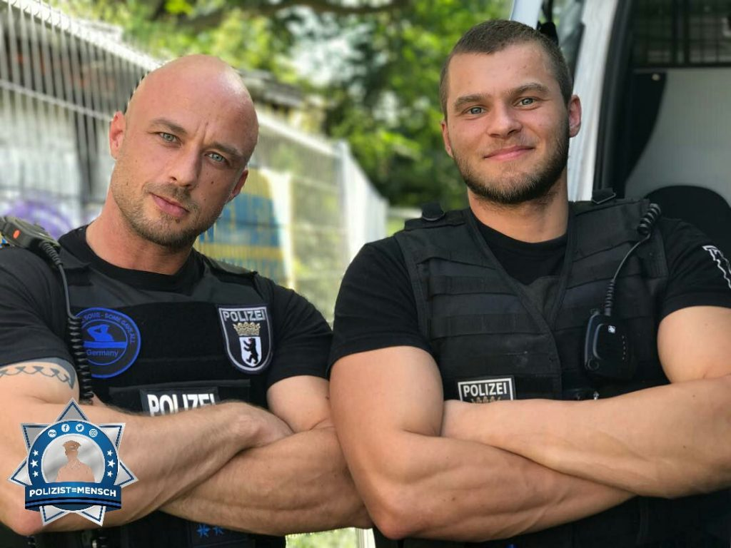 """To protect and to serve, BCPD, Patrick und Daniel"""