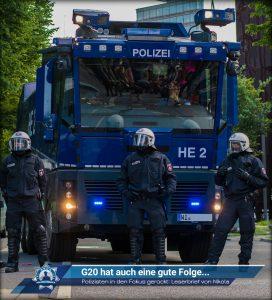 Polizisten dank G20 in den Fokus gerückt: Leserbrief von Nikola