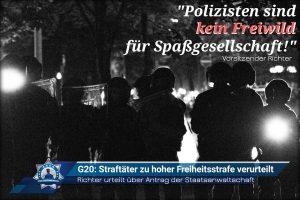 G20: Straftäter zu hoher Freiheitsstrafe verurteilt