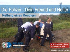 Gemeinsam stark: Polizisten retten Rentner aus misslicher Lage