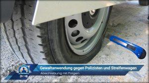 Abschiebung mit Folgen: Gewaltanwendung gegen Polizisten und Streifenwagen