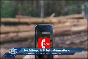 Großeinsatz für Feuerwehr und Polizei: Notfall-App hilft bei Lebensrettung
