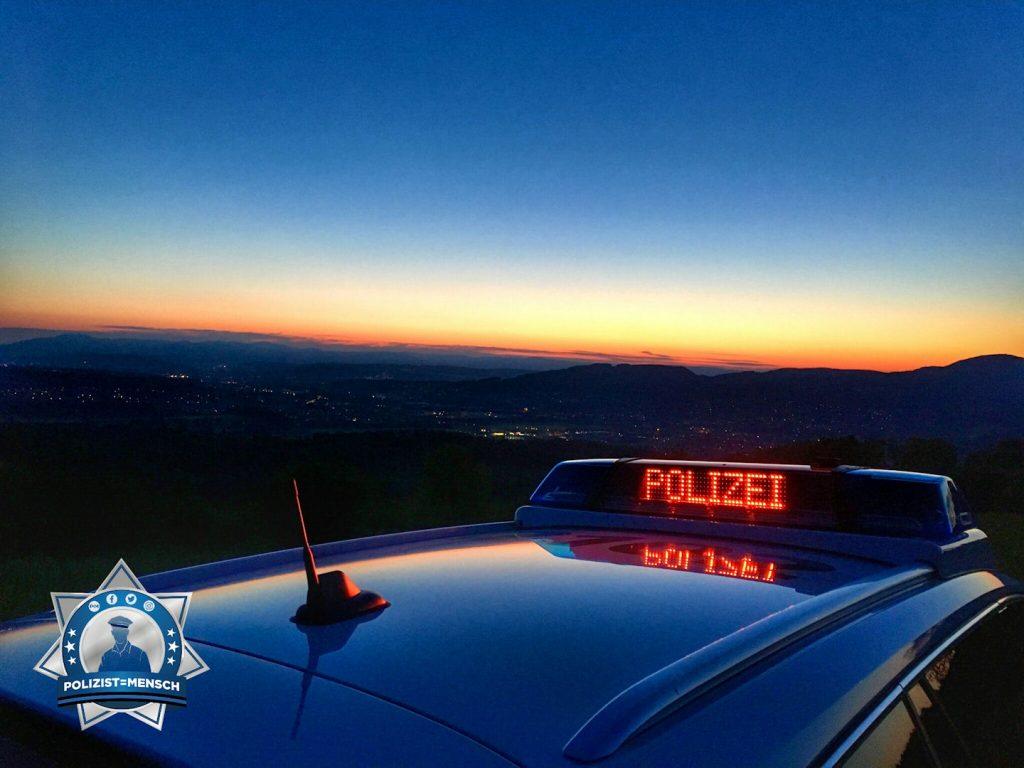 Polizeilicher Gruß zum Nachtdienst