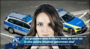 """Polizistin zu Kommentaren über tätlichen Angriff auf sie: """"Ich gratuliere allen Kritikern, dass sie noch nie in eine solche Situation gekommen sind"""""""