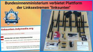"Bundesinnenministerium verbietet Plattform der Linksextremen ""linksunten"""
