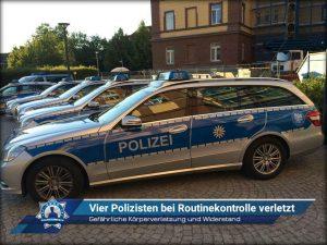 Gefährliche Körperverletzung und Widerstand: Vier Polizisten bei Routinekontrolle verletzt