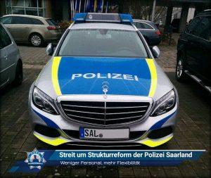Weniger Personal, mehr Flexibilität: Streit um Strukturreform der Polizei Saarland