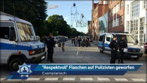 """Exemplarisch: """"Respektvoll"""" Flaschen auf Polizisten geworfen"""