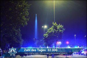 Zahl des Tages: 32.000 - Mehr Kräfte beim G20-Einsatz als bislang bekannt