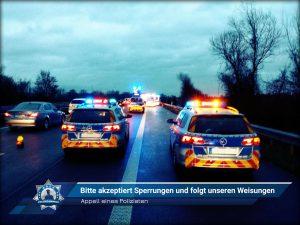 Appell eines Polizisten: Bitte akzeptiert Sperrungen und folgt unseren Weisungen