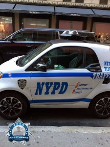 Ein Polizei-Smart in New York