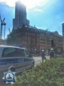 Bildgruß von der Bombenentschärfung in Frankfurt