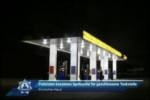 Ehrliche Haut: Polizisten kassieren Spritzeche für geschlossene Tankstelle