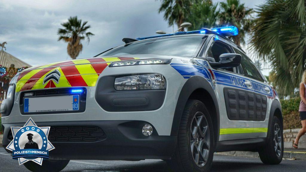 Streifenwagen der französischen Police Municipale