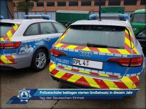 Tag der Deutschen Einheit: Polizeischüler beklagen vierten Großeinsatz in diesem Jahr