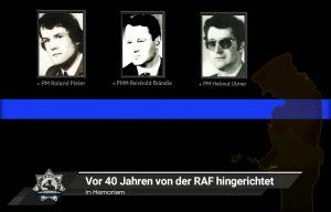 In Memoriam: Vor 40 Jahren von der RAF hingerichtet