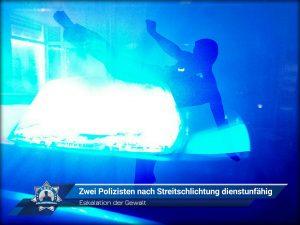 Eskalation der Gewalt: Zwei Polizisten nach Streitschlichtung dienstunfähig