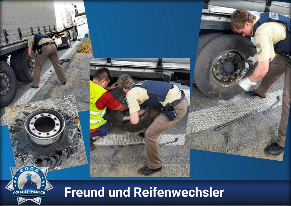 Freund und Reifenwechsler