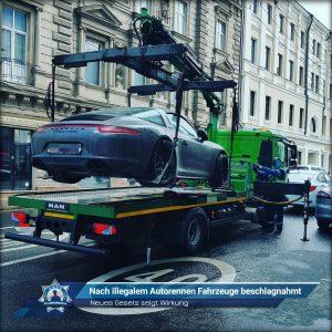 Neues Gesetz zeigt Wirkung: Nach illegalem Autorennen Fahrzeuge beschlagnahmt