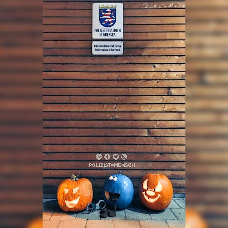 Auch die Polizei Südhessen ist auf Halloween vorbereitet