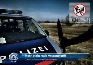 Tödlicher Schusswaffengebrauch: Mann stirbt nach Messerangriff