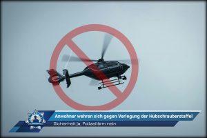 Sicherheit ja, Polizeilärm nein: Anwohner wehren sich gegen Verlegung der Hubschrauberstaffel
