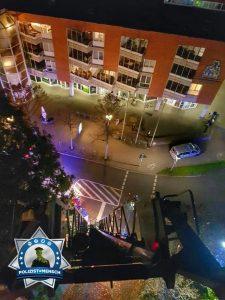 Nächtlicher gemeinsamer Einsatz von Feuerwehr und Polizei