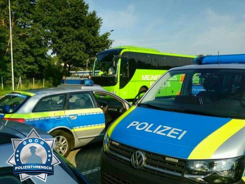 """""""Gruß von der KOM/Bus-Kontrolle der PD Lüneburg auf der Autobahn A1, Münze"""""""