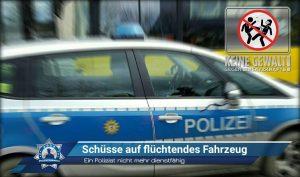 Ein Polizist nicht mehr dienstfähig: Schüsse auf flüchtendes Fahrzeug