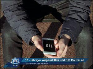 Sicherheit per Telefon: 11-Jähriger verpasst Bus und ruft Polizei an