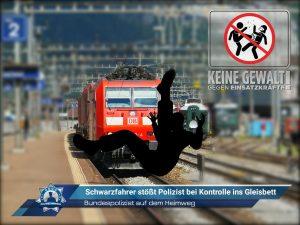 Bundespolizist auf dem Heimweg: Schwarzfahrer stößt Polizist bei Kontrolle ins Gleisbett