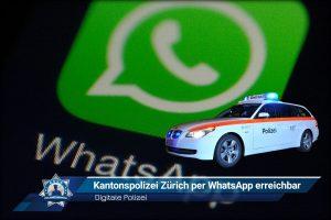 Digitale Polizei: Kantonspolizei Zürich per WhatsApp erreichbar