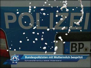 Schwarzfahrerduo leistet Widerstand: Bundespolizisten mit Muttermilch bespritzt