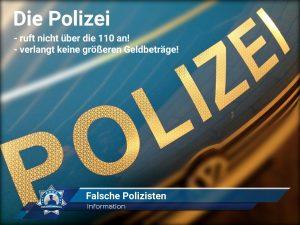Information: Falsche Polizisten