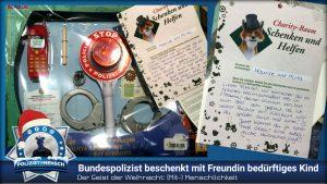 Bundespolizist beschenkt mit Freundin bedürftigen Jungen