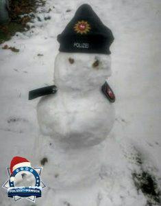 Winterlicher Gruß von der Polizeiakademie Oldenburg