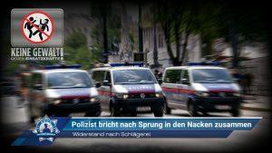 Widerstand nach Schlägerei: Polizist bricht nach Sprung in den Nacken zusammen