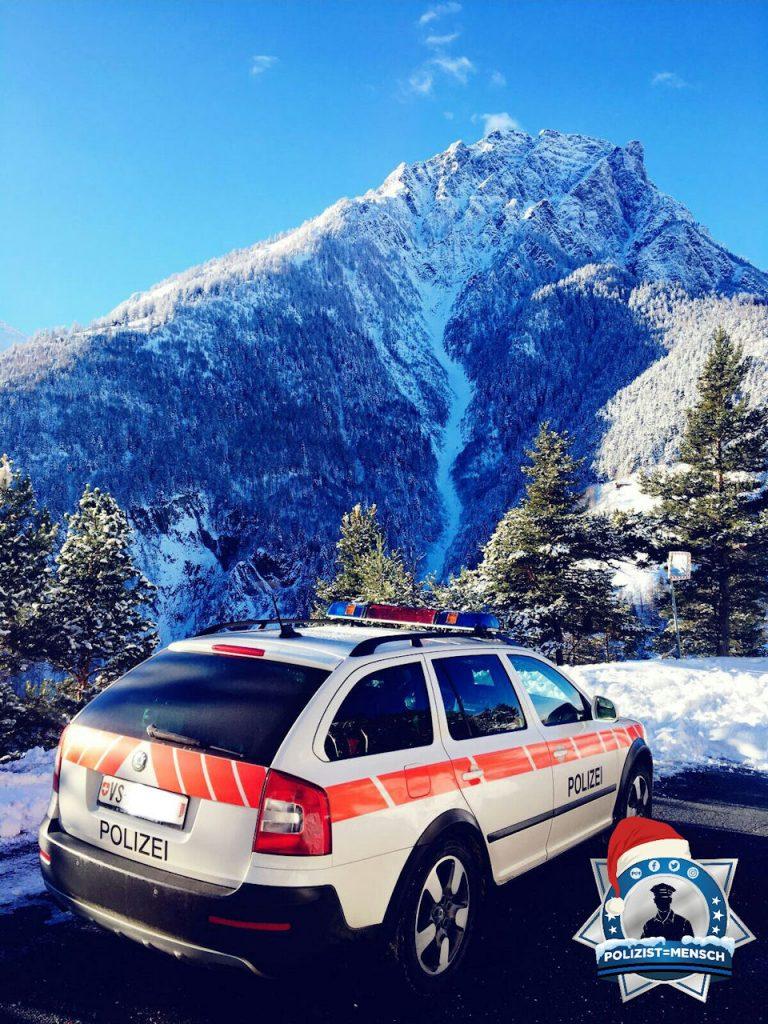 """""""Viele Grüsse aus der Schweiz, Kanton Wallis, Stadtpolizei Brig-Glis. Nici und Alex"""""""