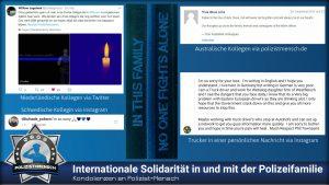 Kondolenzen an Polizist=Mensch: Internationale Solidarität in und mit der Polizeifamilie