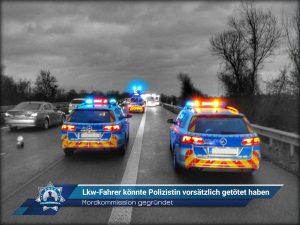 Mordkommission gegründet: Lkw-Fahrer könnte Polizistin vorsätzlich getötet haben