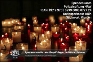 Tödlicher Verkehrsunfall bei Viersen: Spendenkonto für betroffene Kollegen und Hinterbliebene