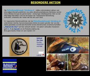 Besondere Aktion: Diensthundeführer-Patch für einen guten Zweck