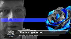 Dem Darmkrebs erlegen: Simon ist gestorben