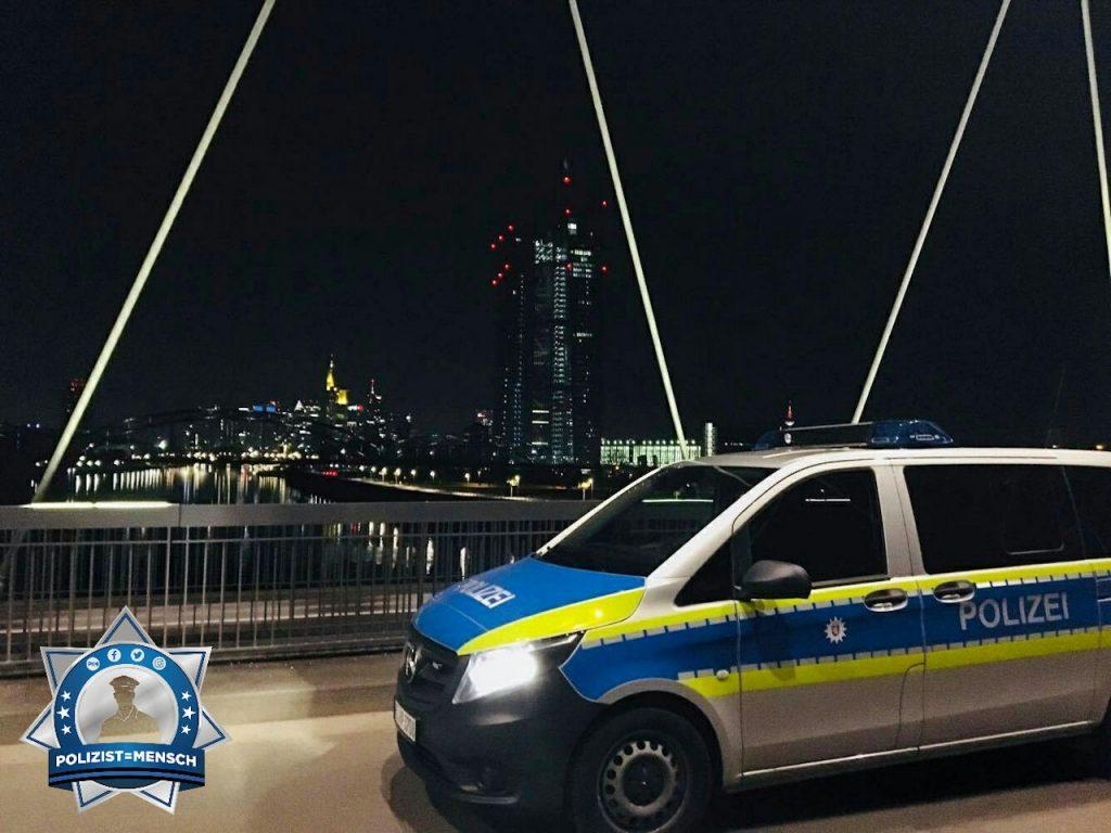 """""""Schöne Grüße aus dem Nachtdienst in der Rhein-Main Metropole Frankfurt. Lars"""""""