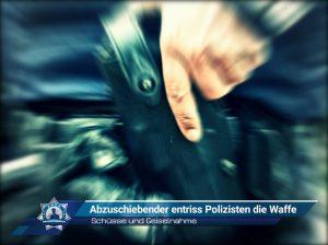 Schüsse und Geiselnahme: Abzuschiebender entriss Polizisten die Waffe